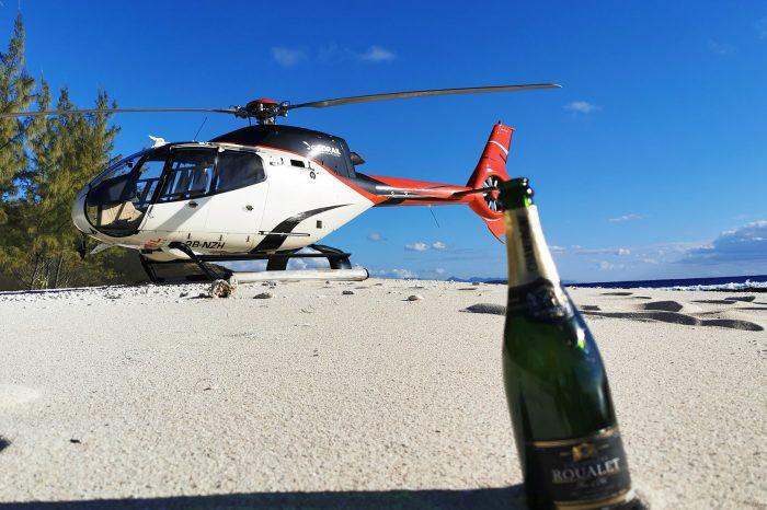 Heli-Abenteuer : Champagner