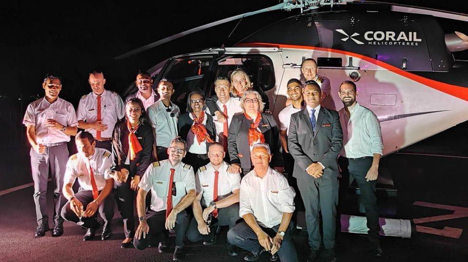 Inauguration Corail hélicoptères Ile Maurice