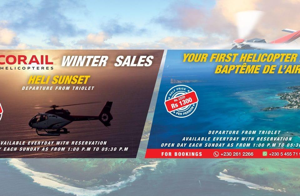 Découvrez les promotions d'hiver de Corail Hélicoptères